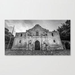 The Alamo in Black and White - San Antonio Texas Canvas Print