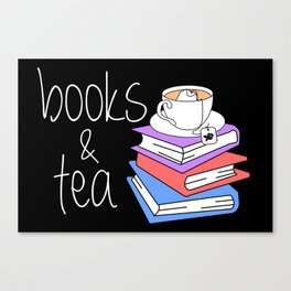 Bookworm Books and Tea - Inverted Canvas Print