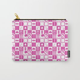 Contraception Pattern (Pink) Carry-All Pouch