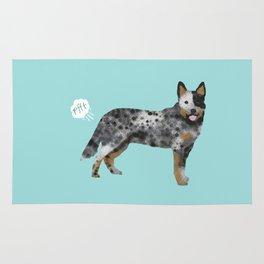 Australian Cattle Dog blue heeler funny fart dog breed gifts Rug