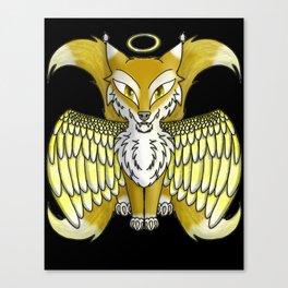 Angel Wolf 2 Canvas Print