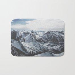 Snowy Mountains of Alberta Bath Mat