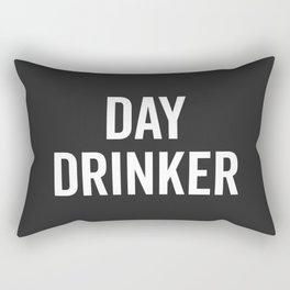 Day Drinker Funny Quote Rectangular Pillow