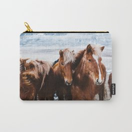 Red Horses Carry-All Pouch