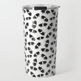 Skateboard pattern black white Travel Mug