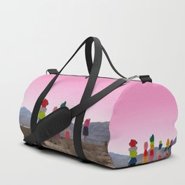Seven Magic Mountains with Pink Sky - Las Vegas Duffle Bag