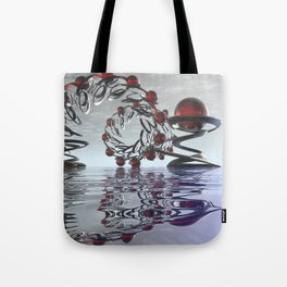 Surreal Christmas in the sky  Tote Bag