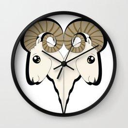 Ram Heads Wall Clock