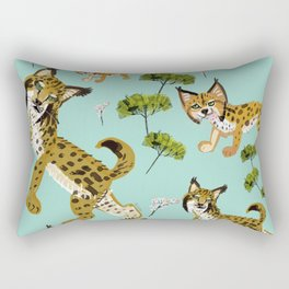 Totem Iberian Lynx Rectangular Pillow