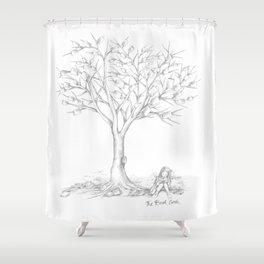 THE BOOK GEEK Shower Curtain
