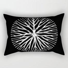 GEOMETRIC NATURE: LILY b/w Rectangular Pillow