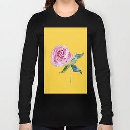 Watercolor Rose Long Sleeve T-shirt