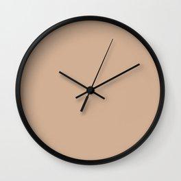Spring 2017 Designer Colors Light Hazelnut Brown Wall Clock