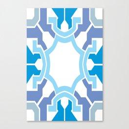 Blue rectangle Canvas Print