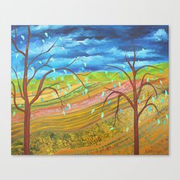 A Landscape in Praise of Farmers Canvas Print