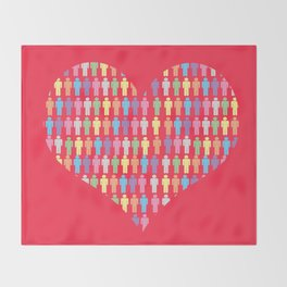 The Heart of the People Throw Blanket