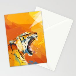 Tiger in the morning Stationery Cards