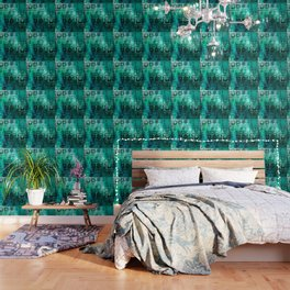 1001 Lights Pattern (emerald jungle) Wallpaper