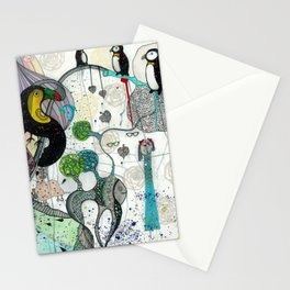 """""""Toucan and penguins"""" Stationery Cards"""