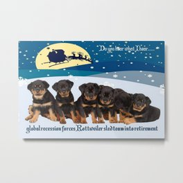 Global Recession Forces Christmas Sled Team Into Retirement Metal Print