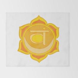Sacral Chakra Svadhishthana Chakra Throw Blanket