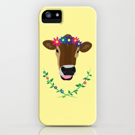 Spring Cow iPhone Case