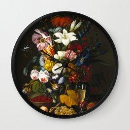 Severin Roesen - Victorian Bouquet Wall Clock