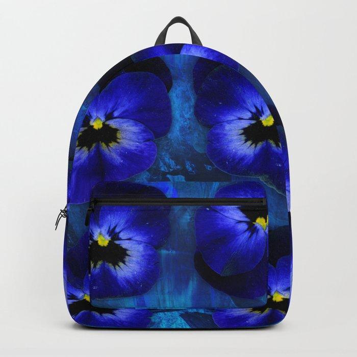 Deep Blue Velvet Backpack