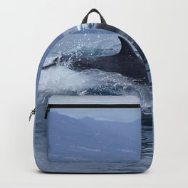 Wild and free bottlenose dolphin Backpack