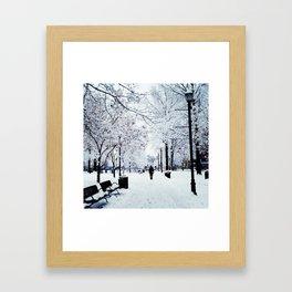 Winter Wonder Walking Framed Art Print