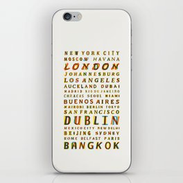 Travel World Cities iPhone Skin