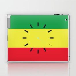 4:20 Clock - Rasta Flag Square Laptop & iPad Skin