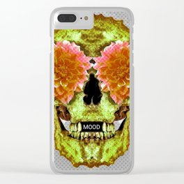 Skull Face Mood Clear iPhone Case