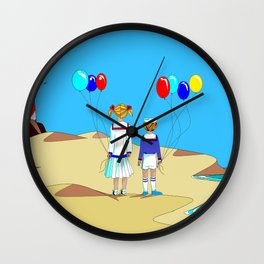 The Children's Vacation at the Shore Wall Clock