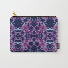 Octopus purple blue dots Carry-All Pouch