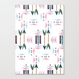 Watercolour Tribal Arrows Pattern Canvas Print
