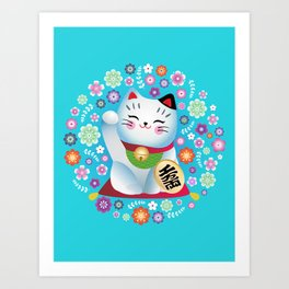My lucky Kitty Art Print