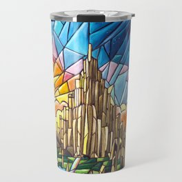 Asgard stained glass style Travel Mug