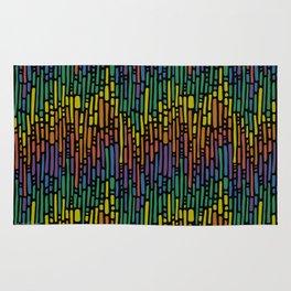 Linnea Rainbow Black Rug
