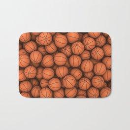 Basketballs Bath Mat