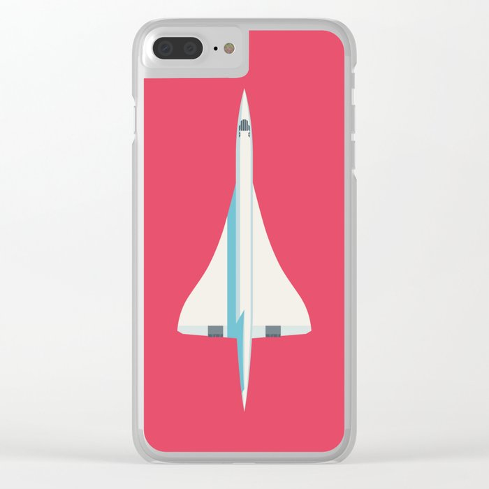 Concorde Supersonic Jet Airliner - Crimson Clear iPhone Case