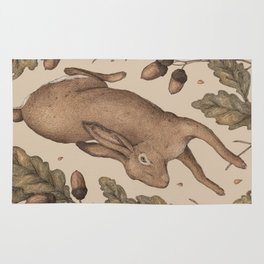 The Hare and Oak Rug