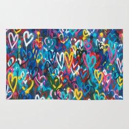 Graffiti Hearts Love (Color) Rug