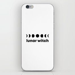 Lunar Witch | Moon Witch | Moon phases Witch iPhone Skin