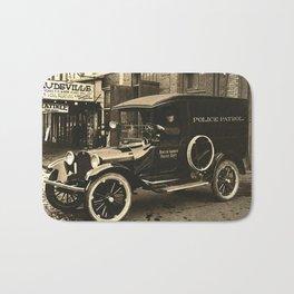 Vintage Police Car Bath Mat