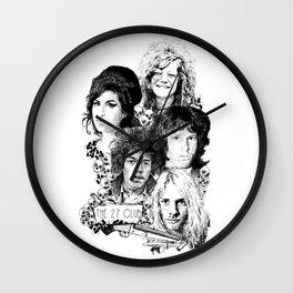 The 27 Club Wall Clock
