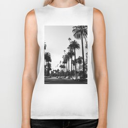 Los Angeles Black and White Biker Tank