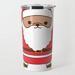 Cute Christmas Santa Pupsheen Travel Mug