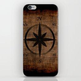 Nostalgic Old Compass Rose iPhone Skin