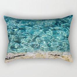 Crystal Blue Ripple Rectangular Pillow
